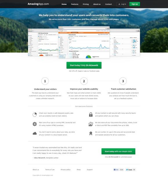 AmazingApp Web App Template