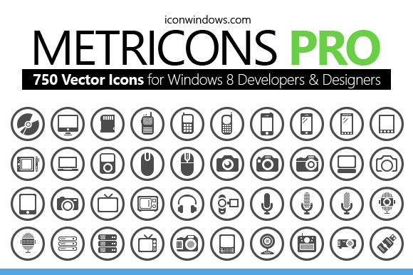 750 Icons For Windows OS Phone