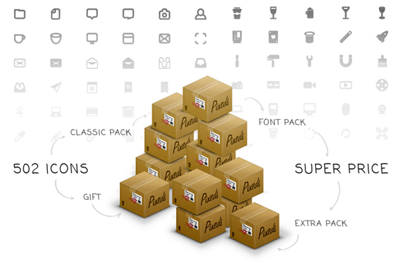 Pixeds 502 Icons