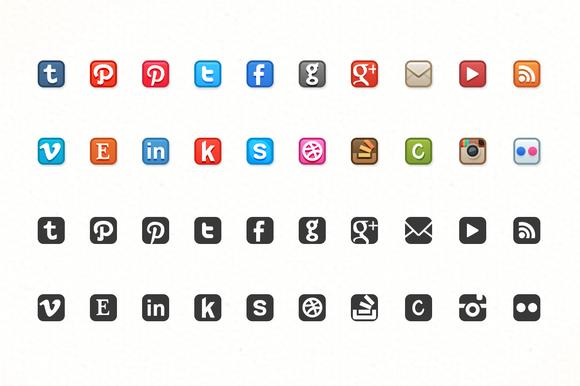 Dead-Simple Social Media Icons