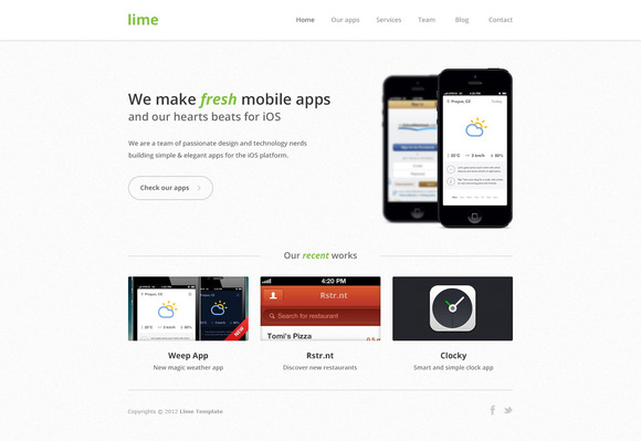 Lime Portfolio Website