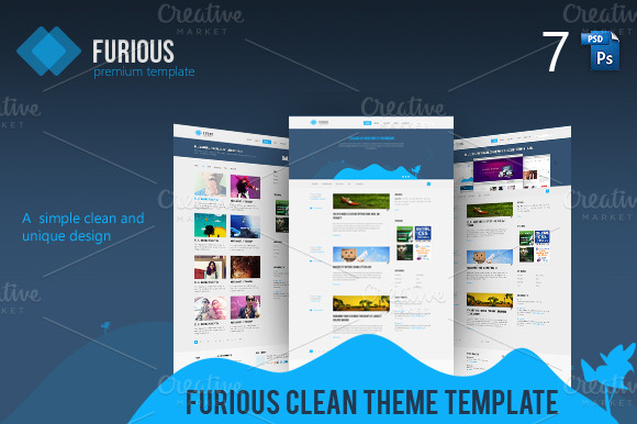 Furious Clean And Unique PSD Templ