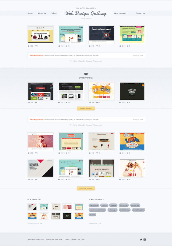 Web Design Gallery PSD Template
