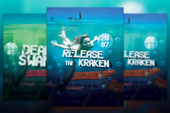 Release The Kraken Flyer Poster