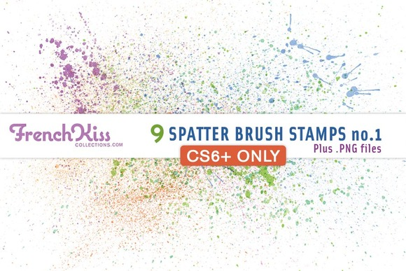 French Kiss Spatter Brushes