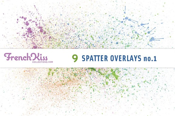 French Kiss Spatter Overlays No.1