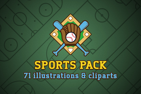 Sports Pack Illustrations Clipart