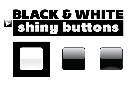 Black White Icon Or Button Bases