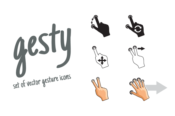 Gesty Gestures Icons