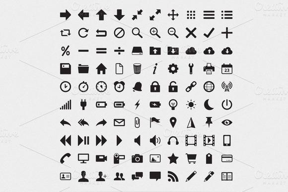 Miniglyph 100 Web UI Icons