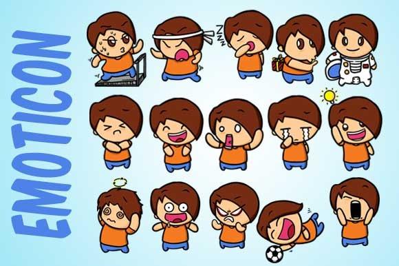 Cute Boy Emoticons