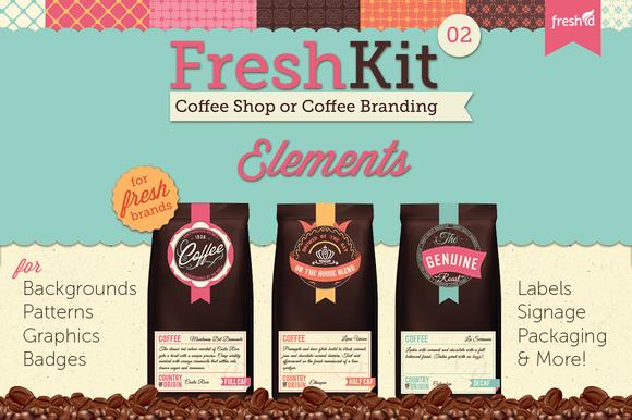 FreshKit 02 Coffee Cafe Elements