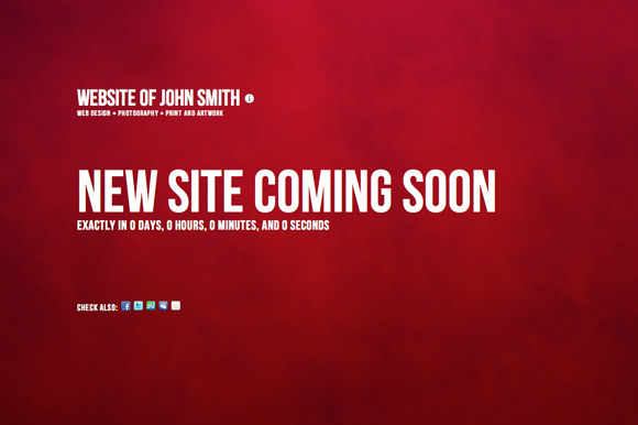 Coming Soon Site Theme