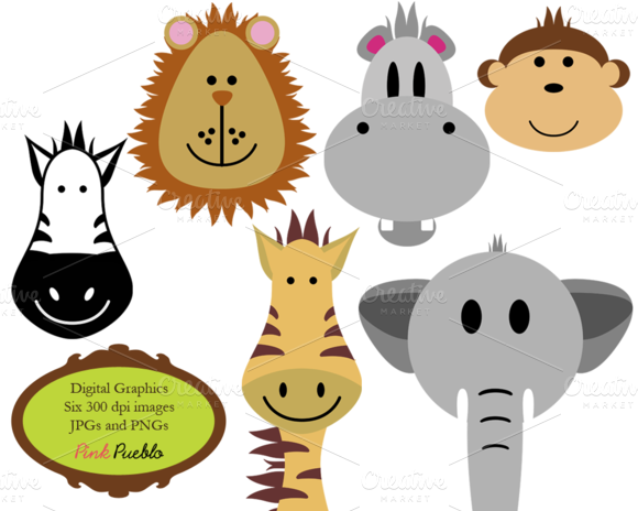 Zoo Animals Vectors And Clipart