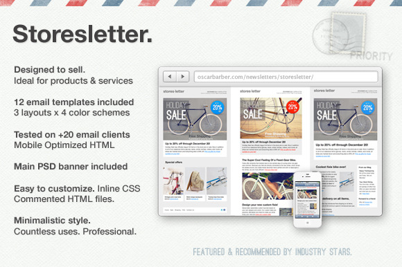 Storesletter HTML Email Template