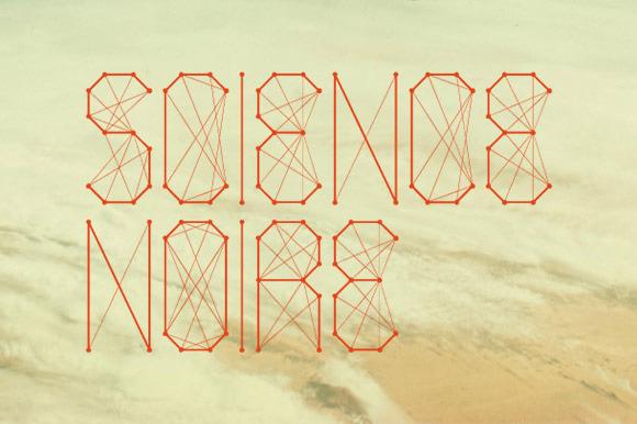 Science Noire Font
