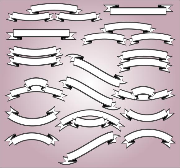 Scrolls And Banner Vectors Clipart