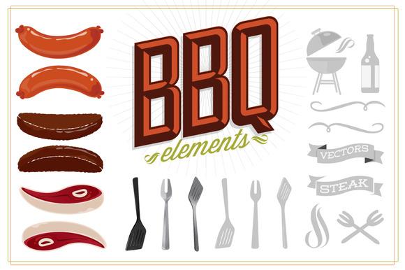 BBQ Vector Elements