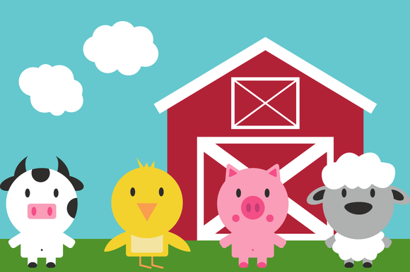 Vector Farm Animals Clip Art