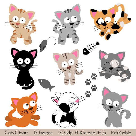 Cats Vectors And Clipart