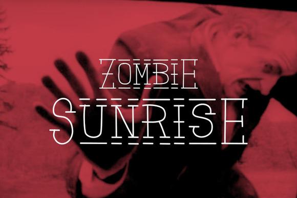 Zombie Sunrise Font Patterns