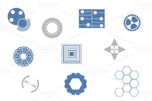 Tech Custom Shapes Set 2
