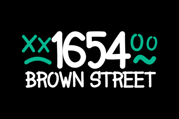 1654 Brown Street Fonts