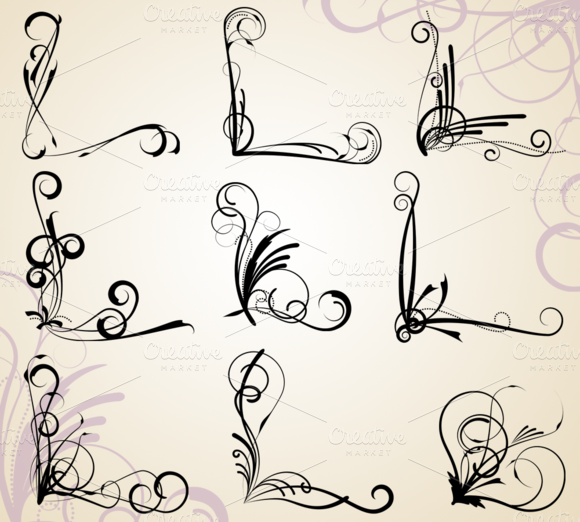 Corner Flourishes Vectors