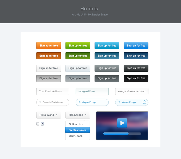 Elements UI Kit