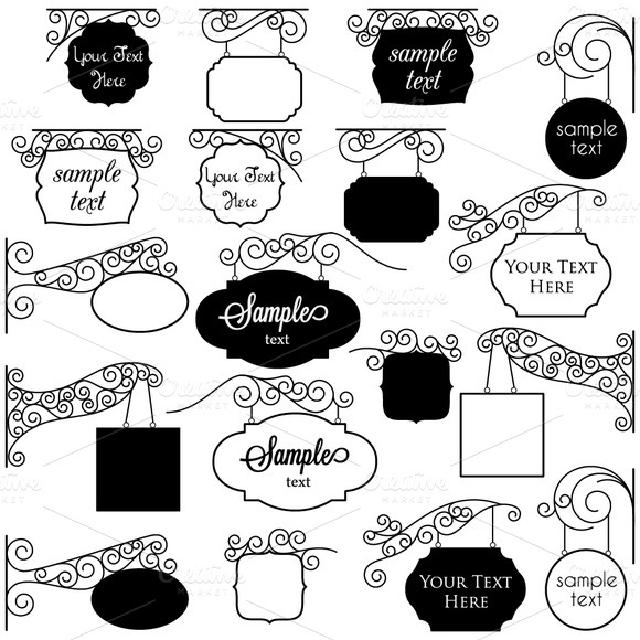 Vintage Signs Vectors And Clipart