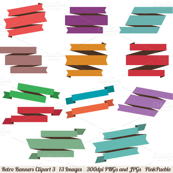 Retro Banners Vectors And Clipart 3