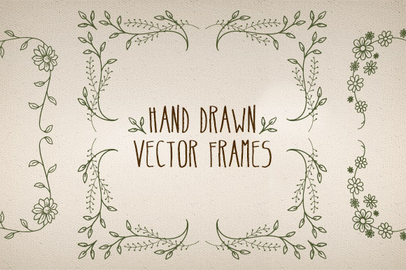 Hand Made Vector Frames Pack 3