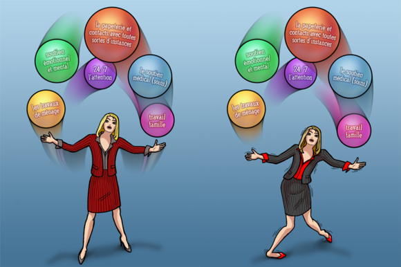 Business Woman Juggler