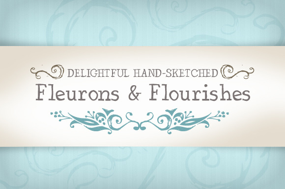 Vector Hand-Sketched Flourishes
