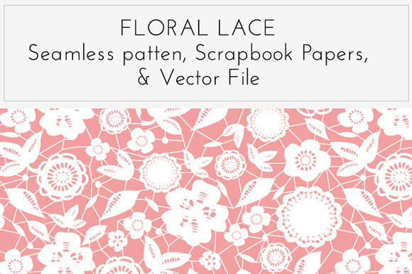 Floral Lace Overlay Pattern Vector