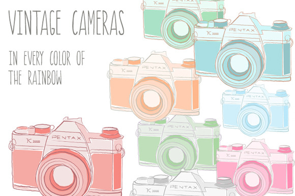 Vintage Cameras- Images PSD Vector