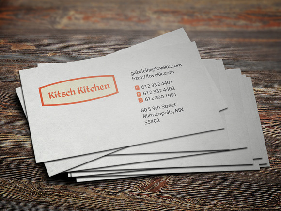 Kitsch Kitchen Pattern Business Card