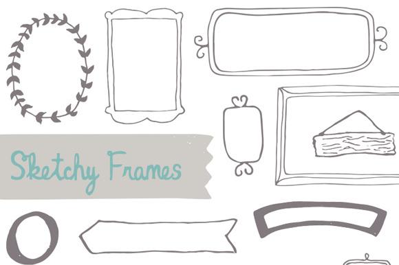Sketchy Hand-drawn Frames
