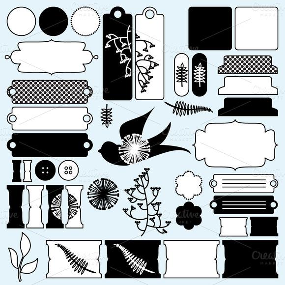 Scrapbooking Elements Vector Clipart