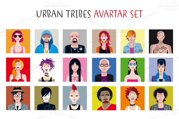 Urban Tribes Avatar Set