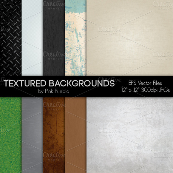 Textured Vector Clipart Backgrouds