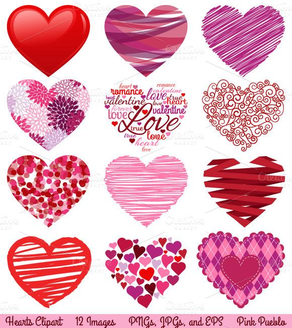 Valentine Hearts Vectors Clipart