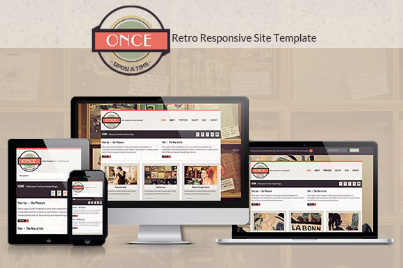 Once.. Responsive Template