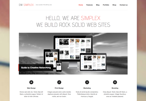 DW Simplex WP Responsive Portfolio