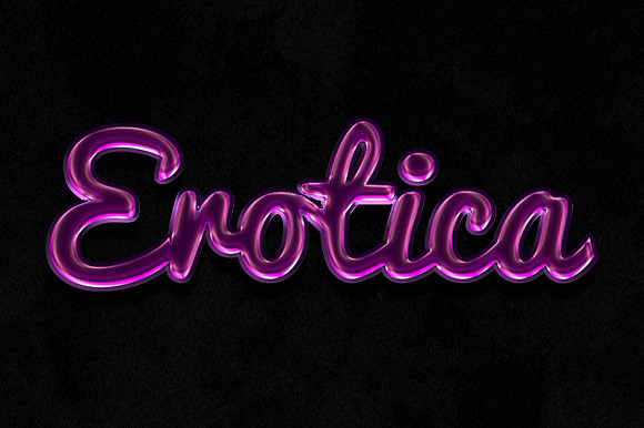 Glossy Photoshop Text Effects