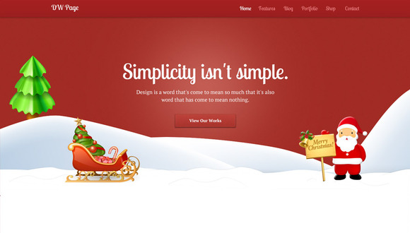 DW One Page Christmas WP Theme