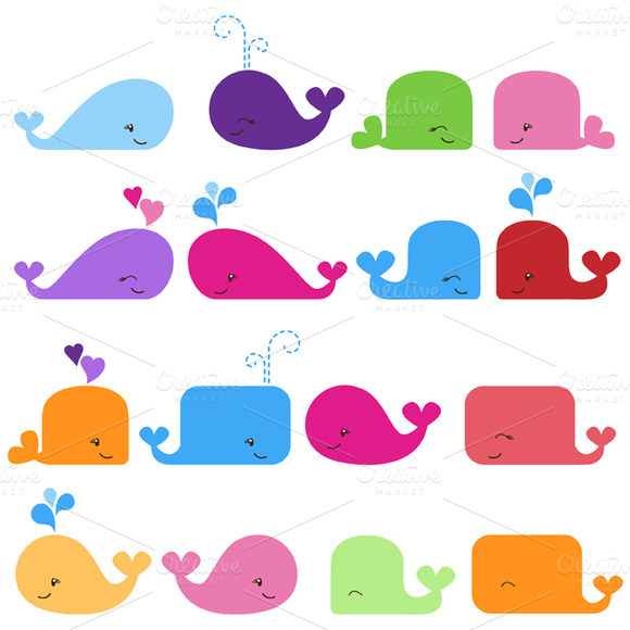 Whales Vectors And Clipart