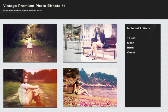 Vintage Premium Photo Effects Bundle