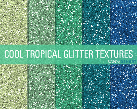 Cool Tropical Glitter Textures
