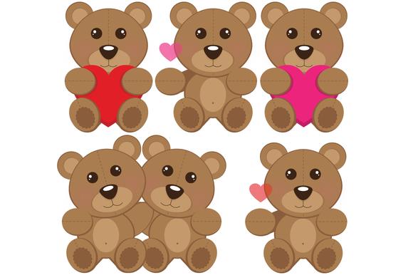 Clip Art Valentine Teddy Bears